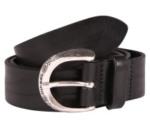 Ledergürtel 'b-Side - belt' schwarz