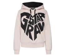 Sweatshirt hellpink / schwarz