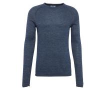 Pullover im Slim Fit dunkelblau