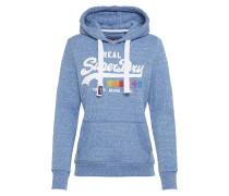 Sweatshirt mit Kapuze blau