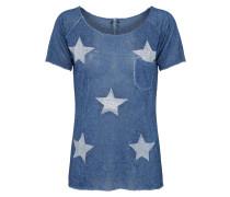 Sternenshirt dunkelblau / silber
