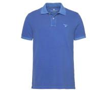 Poloshirt 'Sunbleached Pique SS Rugger' blau