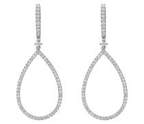 Diamonds Ohrhänger '87352447' silber / weiß