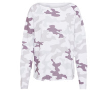 Sweatshirt mauve / offwhite