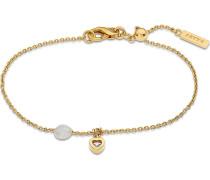 Armband gold / perlweiß