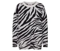 Pullover 'Zebra' grau / schwarz