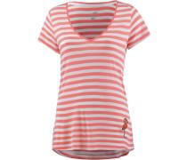 V-Shirt grau / koralle