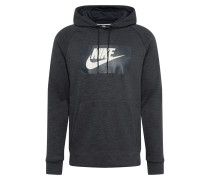 Sweatshirt 'optic' schwarz / weiß
