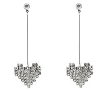Ohrstecker 'Herzen Crystal Heart long 7837'