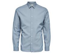 Slim Fit Langarmhemd grau