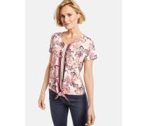 T-Shirt 1/2 Arm Shirt mit Mustermix mischfarben