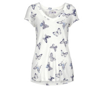 T-Shirt indigo / offwhite