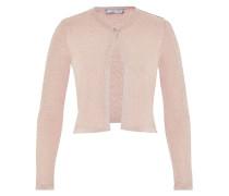 Lurex-Cardigan mit Facettenknopf pink