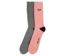 Socken 'skm-Ray' grau / rosa