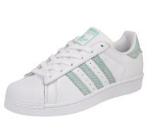 Sneaker 'superstar W' mint / weiß