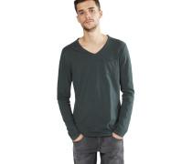 Shirt 'aqua v-neck' dunkelgrün