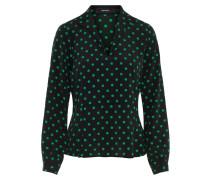 Bluse grün / schwarz