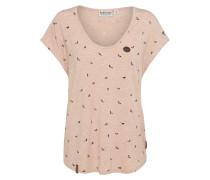 Shirt 'Immer auf brav' pink