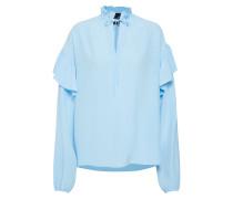 Bluse 'Nini Ruffle Blouse' blau
