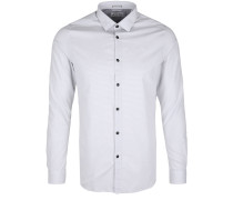 Hemd mit feiner Musterung weiß