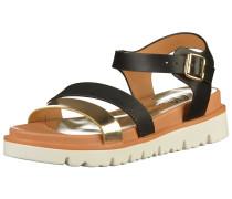 Sandalen gold / schwarz