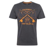 T-Shirt graumeliert / orange