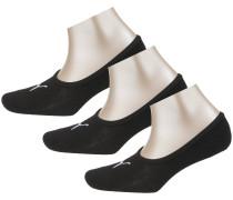 Füßlinge 'Footie' schwarz / weiß