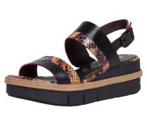 Sandale schwarz / braun