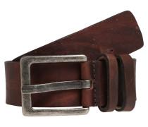 Ledergürtel 'Basic' braun