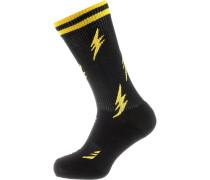 Socken Athletic Flash gelb / schwarz