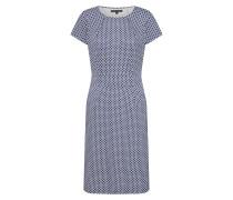 Kleid 'Mona Dress Venus' blau / weiß
