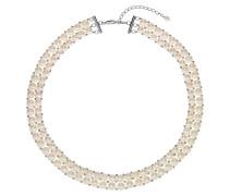 Kette 'Pearls' silber / perlweiß