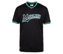 T-Shirt 'mlb Mesh Florida Marlins' schwarz
