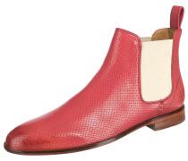 Chelsea Boots beige / pastellrot