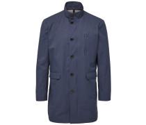 Long Mantel blau