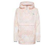 Jacke 'Fanorak' grau / rosa / weiß