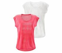 T-Shirts (2 Stück) pink / weiß