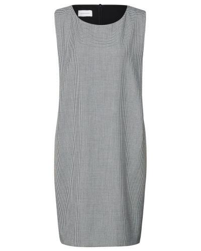 Kleid grau / weiß