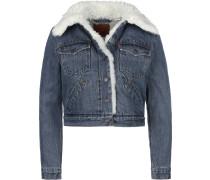 Jeansjacke Styled 'Sherpa Trucker' blau