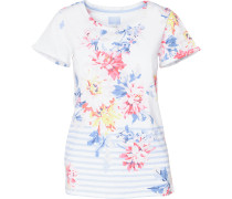 T-Shirt hellblau / gelb / pink / weiß