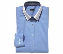 Businesshemd rauchblau / weiß