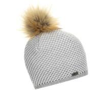 Mütze hellgrau / weiß