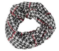 Loopschal rot / schwarz / weiß