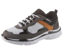 Sneaker ocker / grau / weiß