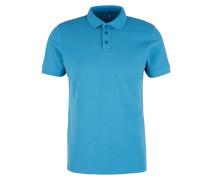Piqué-Poloshirt blau