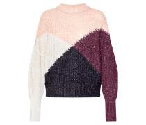 Pullover aubergine / rosa / schwarz / weiß