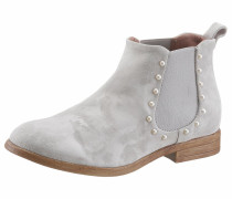 Chelsea-Boots hellgrau