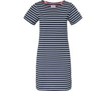 Jerseykleid ultramarinblau / weiß