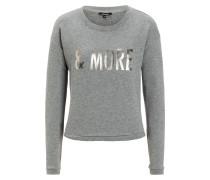 Sweatshirt grau graumeliert