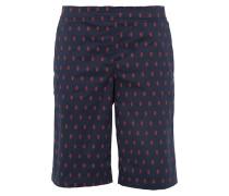 Bermuda Shorts 'Mia' navy / hellrot